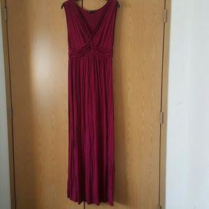 Sleeveless Maxi Dress with Empire Waist